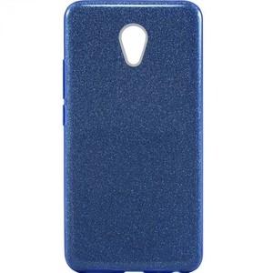 Силиконовый (TPU+PC) чехол с блестками Shine для Meizu M5 Note (Голубой)