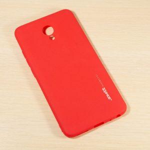TPU чехол матовый SMTT для Meizu M5 Note (Red)