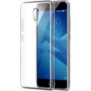 Прозрачный силиконовый (TPU) чехол (накладка) для Meizu M5s – Clear