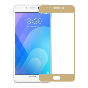 Защитное стекло 2.5D (3D) Full Cover на весь экран для Meizu M6 Note – Gold