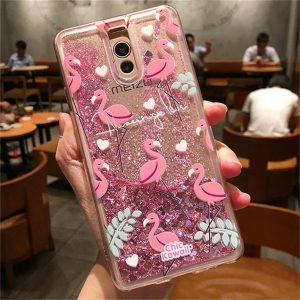 TPU чехол с переливающимися блестками для Meizu M6 Note (Flamingo)