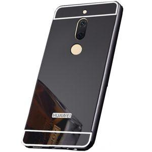 Cерый алюминиевый чехол с акриловой вставкой с зеркальным покрытием для Huawei Mate 10 lite (Grey)