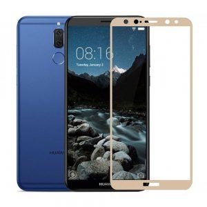 Защитное стекло 2.5D (3D) Full Cover на весь экран для Huawei Mate 10 Lite — Gold