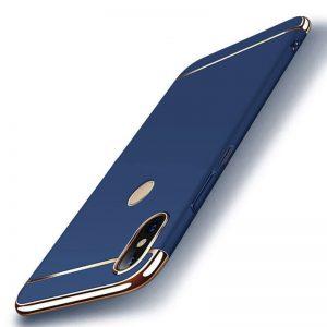 Матовый пластиковый чехол Joint Series для Xiaomi Redmi 6 Pro / Mi A2 Lite (Blue)