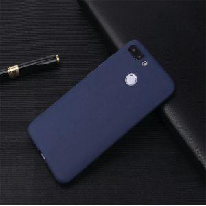 Матовый силиконовый (TPU) чехол на Huawei P Smart / Enjoy 7S (Синий)