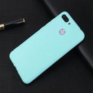 Матовый силиконовый TPU чехол на Xiaomi Mi 8 Lite / Mi 8 Youth (Mi 8x) (Бирюзовый)