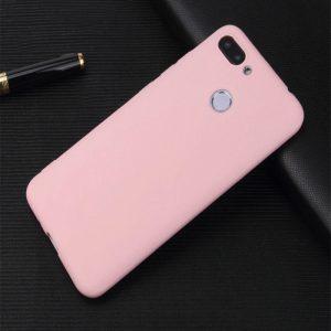 Матовый силиконовый (TPU) чехол на Huawei P Smart / Enjoy 7S (Розовый)