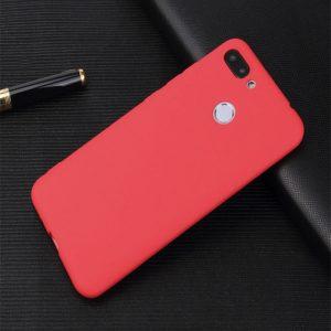 Матовый силиконовый (TPU) чехол на Huawei P Smart / Enjoy 7S (Red)