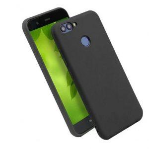 Матовый силиконовый TPU чехол на Huawei Nova 2 (Black)