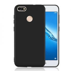 Матовый силиконовый TPU чехол на Huawei P8 Lite 2017 (Black)