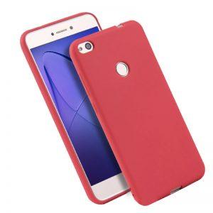 Матовый силиконовый TPU чехол на Huawei P8 Lite 2017 (Red)