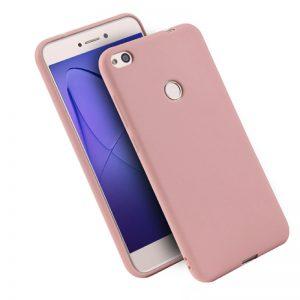 Матовый силиконовый TPU чехол на Huawei P8 Lite 2017 (Розовый)