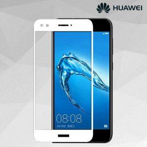 Защитное стекло 3D (5D) Full Glue Armor Glass на весь экран для Huawei Nova Lite (2017) / Y6 Pro (2017) / P9 Lite Mini — White