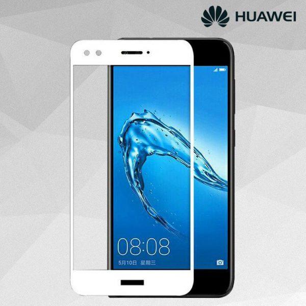Защитное стекло 3D (5D) Full Glue Armor Glass на весь экран для Huawei Nova Lite (2017) / Y6 Pro (2017) / P9 Lite Mini – White