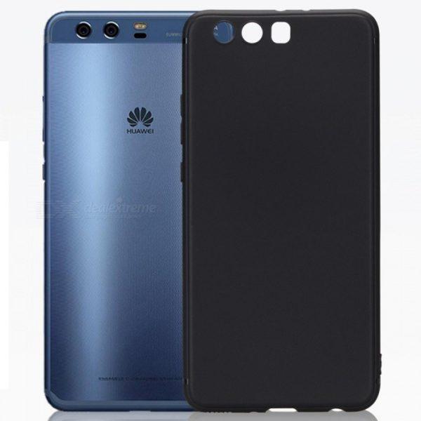 Матовый силиконовый TPU чехол на Huawei P10 (Black)