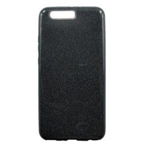 Силиконовый (TPU+PC) чехол c блестками Shine для Huawei P10 (Серый)