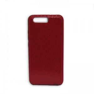 Силиконовый (TPU+PC) чехол c блестками Shine для Huawei P10 (Красный)