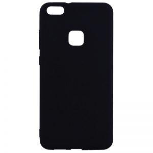 Матовый силиконовый TPU чехол на Huawei P10 Lite (Black)