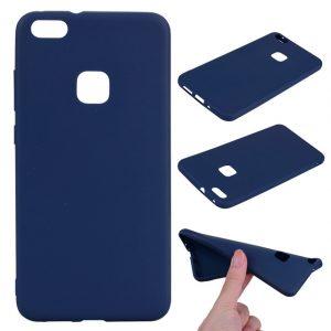 Синий матовый силиконовый (TPU) чехол (накладка) для Huawei P10 Lite (Blue)