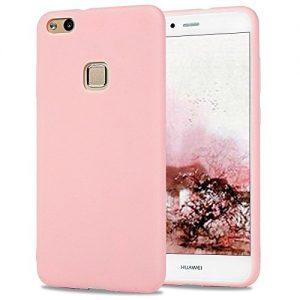 Розовый матовый силиконовый (TPU) чехол (накладка) для Huawei P10 Lite (Pink)