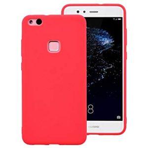 Матовый силиконовый TPU чехол на Huawei P10 Lite (Red)