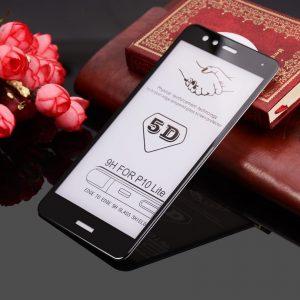 Защитное стекло 5D Premium 9H Full Glue на весь экран для Huawei P10 Lite – Black