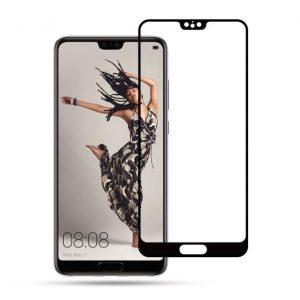 Защитное стекло 3D (5D) Full Glue Armor Glass на весь экран для Huawei P20 – Black