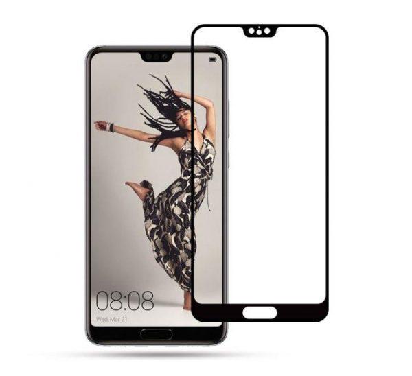 Защитное стекло 3D Full Glue (на весь экран) для Huawei P20 (Black)