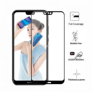 Защитное стекло 3D Full Glue (на весь экран) для Huawei P20 Pro (Black)