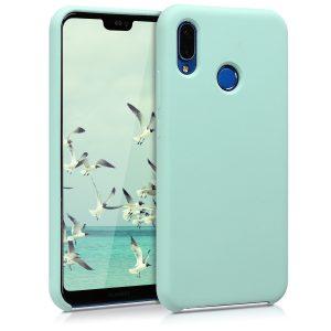 Мятный оригинальный силиконовый (TPU) чехол Silicone cover для Huawei P20 Lite (Mint)