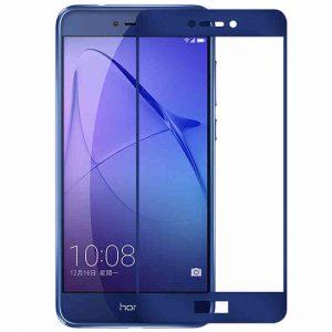 Защитное стекло 2.5D (3D) Full Cover на весь экран для Huawei P8 Lite 2017 – Blue