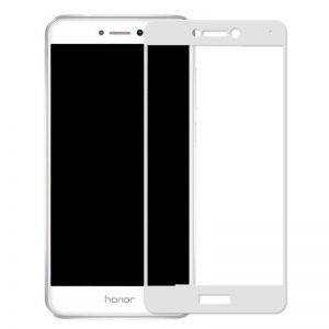 Защитное стекло 2.5D (3D) Full Cover на весь экран для Huawei P8 Lite 2017 – White