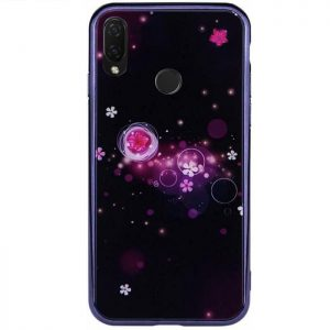 TPU+Glass чехол Fantasy с глянцевыми торцами для Huawei P Smart Plus nova 3i (Bubbles with flowers)