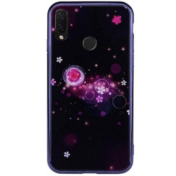 TPU+Glass чехол Fantasy с глянцевыми торцами для Huawei P Smart Plus (nova 3i) (Bubbles with flowers)