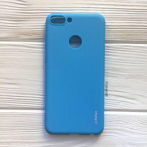 Матовый силиконовый (TPU) чехол на Huawei P Smart / Enjoy 7S (Голубой)