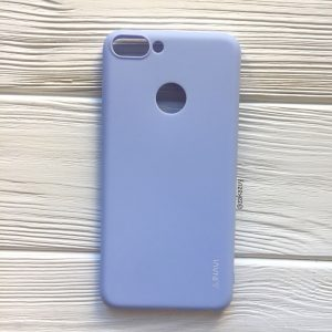Матовый силиконовый (TPU) чехол на Huawei P Smart / Enjoy 7S (Светло-голубой)