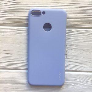 Матовый силиконовый TPU чехол на Huawei Nova Lite 2017 (Светло-голубой)