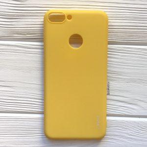 Матовый силиконовый (TPU) чехол на Huawei P Smart / Enjoy 7S (Yellow)