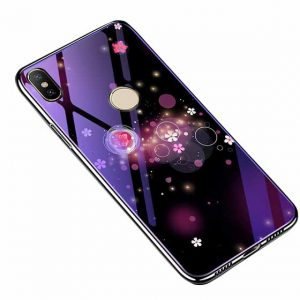 TPU+Glass чехол Fantasy с глянцевыми торцами для Xiaomi Redmi 6 Pro / Mi A2 Lite (Bubbles with flowers)