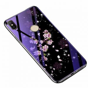 TPU+Glass чехол Fantasy с глянцевыми торцами для Huawei P20 Lite (Bubbles with flowers)