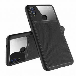 Черный силиконовый (TPU) чехол (накладка) Glossy Half для Huawei P Smart+ (nova 3i) Black