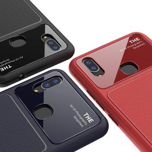 Синий силиконовый (TPU) чехол (накладка) Glossy Half для Huawei P Smart+ (nova 3i) Blue