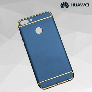 Матовый пластиковый чехол Joint Series  для Huawei P smart / Enjoy 7S (Blue)