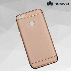 Матовый пластиковый чехол Joint Series Huawei P smart / Enjoy 7S (Rose)
