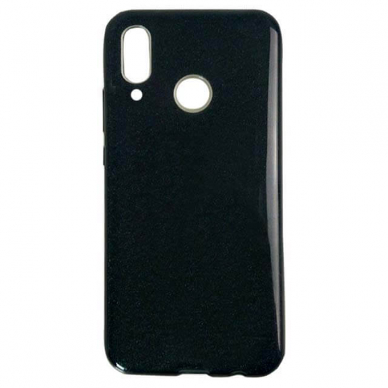 Черный силиконовый (TPU+PC) чехол (накладка) с блестками Shine для Huawei P Smart+ (nova 3i) Black