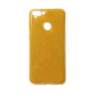 Золотой силиконовый (TPU+PC) чехол (накладка) с блестками для Huawei P Smart / Enjoy 7S (Gold)