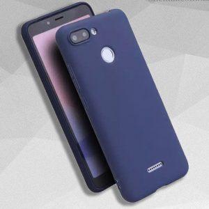Матовый силиконовый TPU чехол на Xiaomi Redmi 6 / Redmi 6A (Синий)