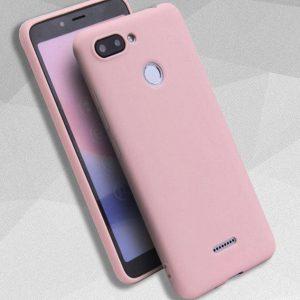 Матовый силиконовый TPU чехол на Xiaomi Redmi 6 (Розовый)