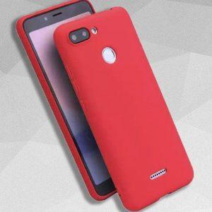 Матовый силиконовый TPU чехол на Xiaomi Redmi 6 (Red)