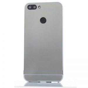 Металлический бампер с акриловой вставкой с зеркальным покрытием для Xiaomi Redmi 6 (Grey)